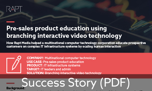 Pre-sales Product Education Using Branching Interactive Video Technology